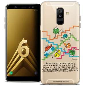 CaseInk Coque Gel Samsung Galaxy A6 PLUS 2018 (6 ) Extra Fine Les Shadoks® - L'escalier
