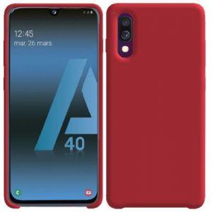 Ibroz Coque Samsung A40 Liquid Silicone rouge