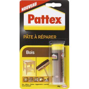 Pattex Pâte à réparer le bois, marron clair, 48g