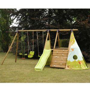 Soulet Fort Jungle - Aire de jeux 5 agrès en bois 2,50 m