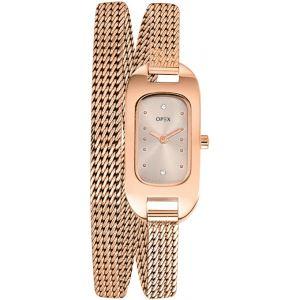 OPEX Paris X0396MA - Montre pour femme avec bracelet double Ballerine