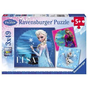 Ravensburger Puzzle Frozen: La reine des neiges 3 x 49 pièces
