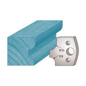 Diamwood Platinum Jeu de 2 fers profilés Ht. 40 x 4 mm quart de rond double M40 pour porte-outils de toupie