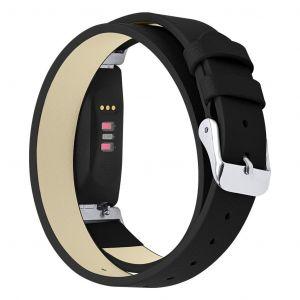 Double Tour Bracelet En Cuir Du Bracelet Montre Bracelet Pour Fitbit Inspire / Inspire Hr Neuf