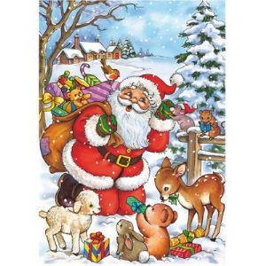 Dtoys Puzzle Collection de Noël 35 pièces - Le Père Noël et les animaux de la forêt