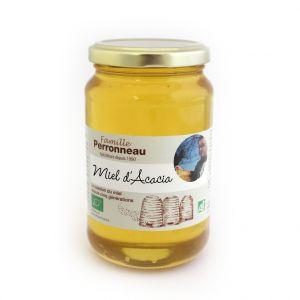 Famille Perronneau Miel d'acacia bio dans pot en verre de 375 g
