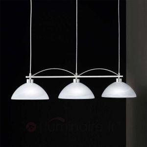 Honsel Brava - Suspension 3 ampoules motif albâtre