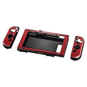 Hama 00054665 Coque Dure pour Nintendo Switch Rouge Métallisé
