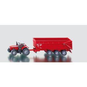 Siku 1844 - Tracteur Massey Ferguson avec remorque - Echelle 1:87