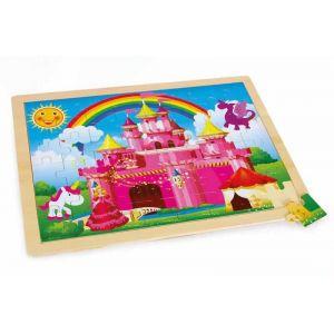 Legler Château de princesse - Puzzle en bois 48 pièces
