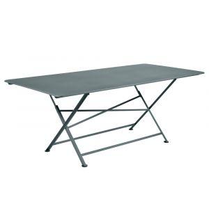 Fermob Table pliante rectangulaire 90x190 gris orage CARGO