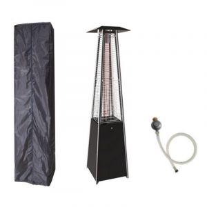 Proweltek Parasol chauffant PYRAMID 14 KW INTEC Allumage électronique Housse de protection+ Connectique gaz