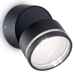 Ideal lux Spot extérieur led Omega Noir Aluminium 165387