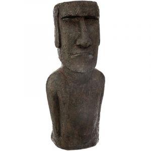 Atmosphera Statue île de pâques en résine h 80 cm