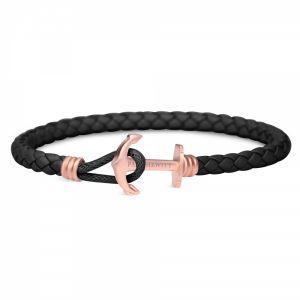 Paul Hewitt Femmes Bracelet Ancre PHREP Lite IP Or Rosé Noir PH-PHL-L-R-B-M