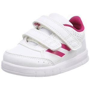 Image de Adidas AltaSport CF I, Chaussures de Fitness Mixte Enfant, Blanc Cassé (FTWR White/Bold Pink/FTWR White), 23 EU