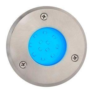 Horoz Electric Spot LED étanche rond bleu 1.2W IP67 encastrable au sol Diam. 95mm
