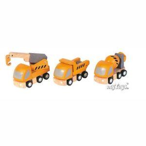 Plan Toys 3 camions de chantier