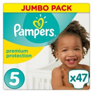 Pampers Premium Protection taille 5 (11-23 kg) - 47 couches