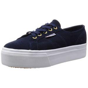 Superga Chaussures Basses 2790 Daim Femme Bleu Marine - Taille UK 5