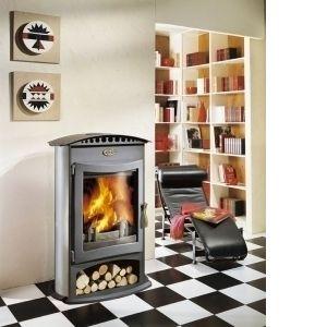 Godin 364104 - Poêle à bois Brulhaut 15 kw (Porte plate et acier émaillé)