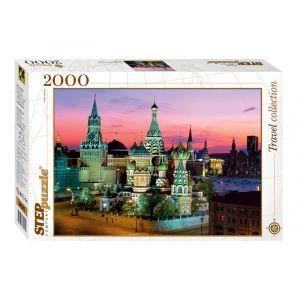 Step puzzle Cathédrale Saint-Basile, Moscou - Puzzle 2000 pièces
