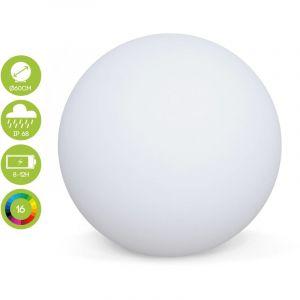 Alice's Garden Boule lumineuse LED ? 60cm 16 couleurs, étanche, recharge sans fil avec télécommande