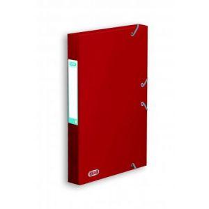 Elba 100200408 - Boîte à élastiques Boston 24x32, en carte lustrée 7/10e, dos de 35, coloris rouge