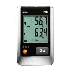 Testo Enregistreur de Température -200 à +400 °C (type T) -195 à +1000 °C (type K) -100 à +750 °C (type J) 176 T4