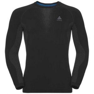 Odlo Vêtements intérieurs Performance Warm Suw Top L/s - Black / Concrete Grey - Taille XL