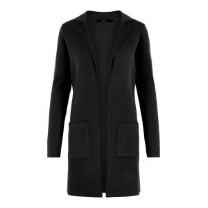 Vero Moda Chandails Vero-moda Tasty Fullneedle New Coatigan Noos - Black - XS