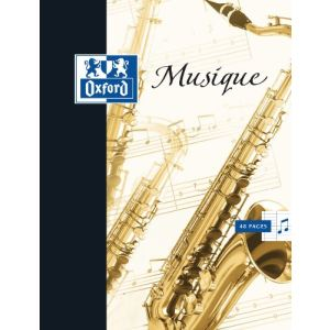 Oxford Cahier de musique 17x22 48 pages 90g/m²