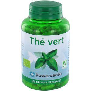 Powersanté Thé vert bio - 200 gélules végétales