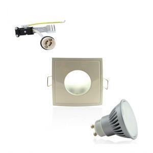 Superled Kit Spot LED GU10 étanche 6W carré blanc lumière 50W blanc du jour