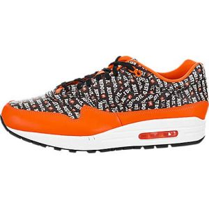 Nike Air Max 1 Premium, Sneakers Basses Homme, Multicolore Black/Total Orange/White 008, 44.5 EU