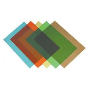 Fellowes 5377101 - Boîte de 100 couvertures PVC 200µ, A4, bleu translucide