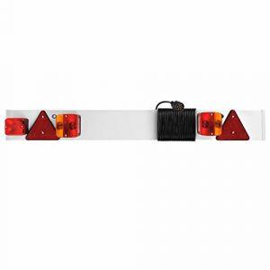 ProPlus Rampe d'éclairage pour remorque avec antibrouillard + câble 9m
