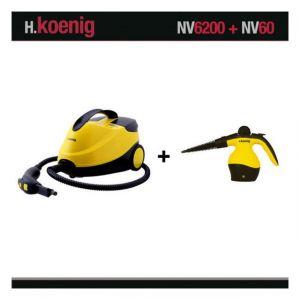 H.Koenig NV6200 2000W 4 Bars + Nettoyeur NV60 - Nettoyeur Vapeur