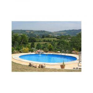 Gre Kit piscine enterrée madagascar acier ronde 420 x h150 cm