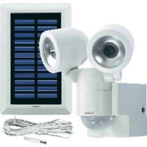 Gev Double projecteur blanc LED solaire LPL 841