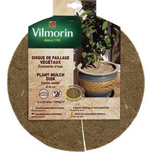 Vilmorin Disque de paillage végétaux 1000g/m² - Ø 30cm