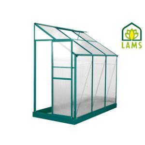 Image de Lams 700680 - Serre adossée Iris en alu laqué et polycarbonate 2,98 m2