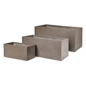 Mcollection Bac rectangle GENEVE L.100x45xH.45 Taupe