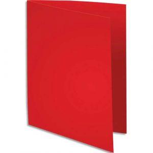 Exacompta 330012E - Paquet de 100 chemises SUPER 250, coloris rouge