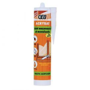 Geb Acrybat BT Pierre : mastic acrylique d'étanchéité -