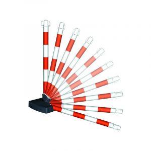 Novap Poteau PVC Rouge/Blanc BI-POSE sur socle lesté 4kg - 2000000