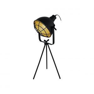 Eglo Lampe à poser CANNINGTON Noir, Or, 1 lumière - Vintage - Intérieur - CANNINGTON - Délai de livraison moyen: 10 à 14 jours ouvrés. Port gratuit France métropolitaine et Belgique dès 100 €.