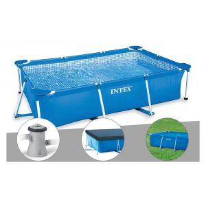 Intex Kit piscine tubulaire rectangulaire 3,00 x 2,00 x 0,75 m + Filtration à cartouche + Bâche de protection