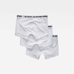 G-Star Raw RAW Classic Trunk 3 Pack Short, Blanc White 6008, Small (Lot de 3 Homme