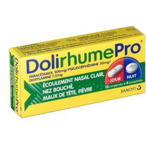 Sanofi DoliRhume Pro - 16 comprimés